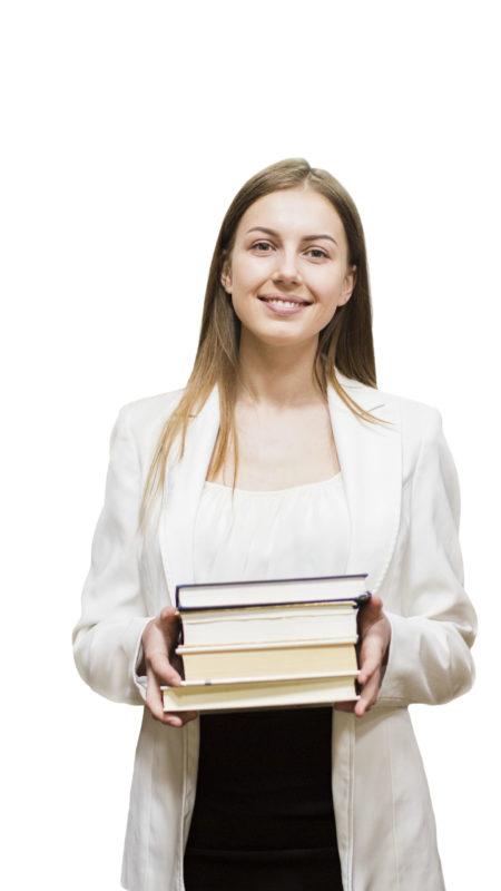chica con libros